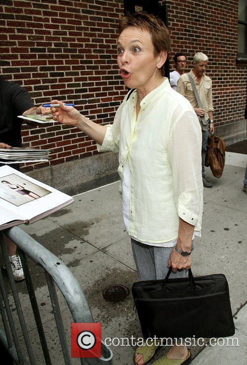 Laurie Anderson and David Letterman 2