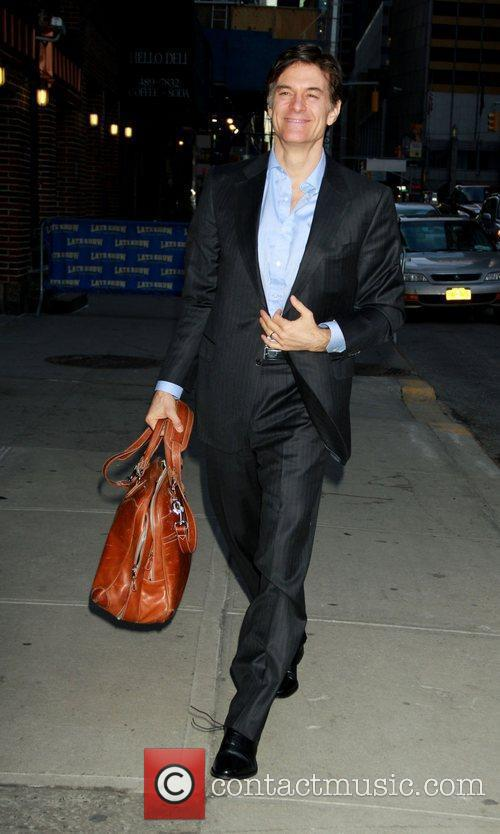 Dr. Mehmet Oz outside The Ed Sullivan Theater...