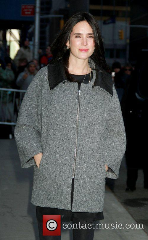 Jennifer Connelly outside The Ed Sullivan Theater for...