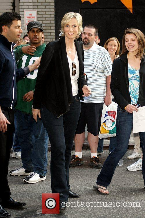 Jane Lynch and David Letterman 2
