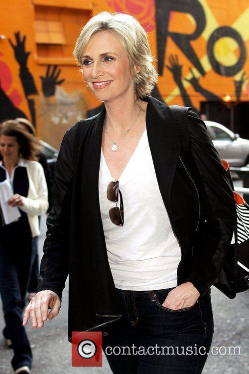 Jane Lynch and David Letterman 1