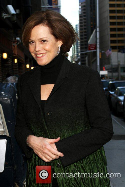 Sigourney Weaver and David Letterman 2