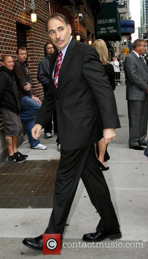 Outside The Ed Sullivan Theater for 'The Late...