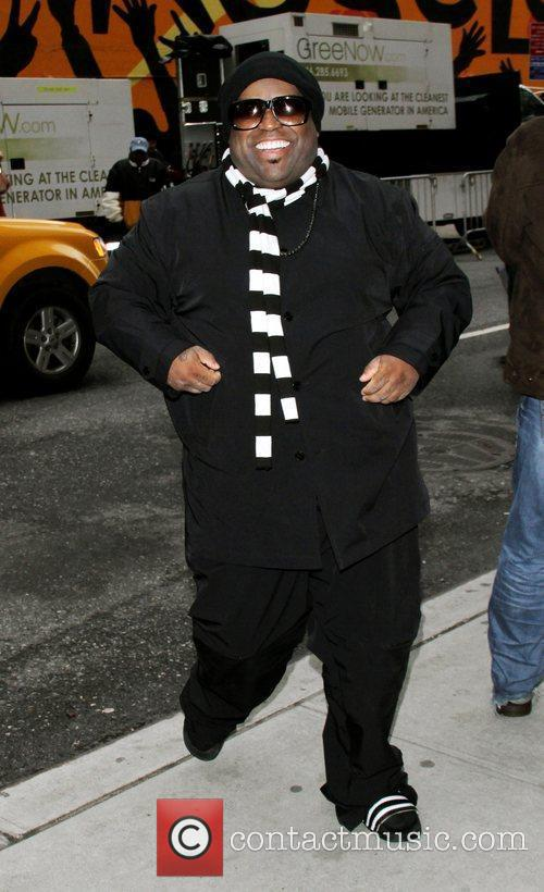 Cee Lo Green arriving at the Ed Sullivan...
