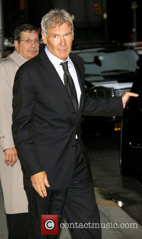 Harrison Ford arriving at the Ed Sullivan theatre...