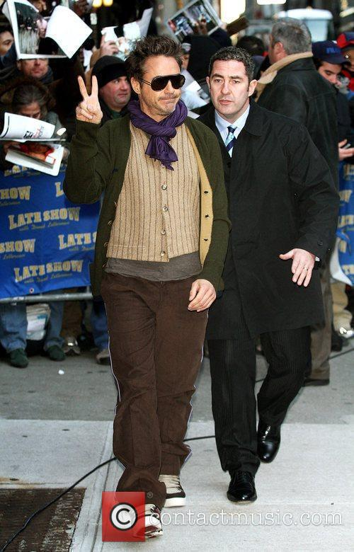 Robert Downey Jr and David Letterman 6