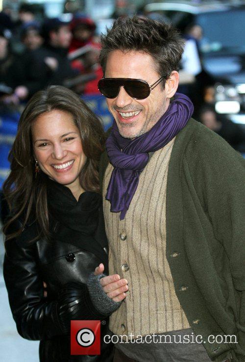Susan Downey, David Letterman and Robert Downey Jr 6
