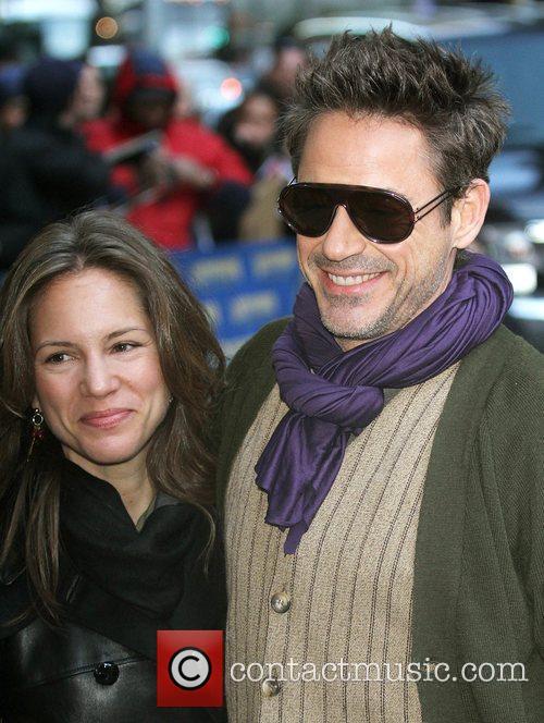 Susan Downey, David Letterman and Robert Downey Jr 1