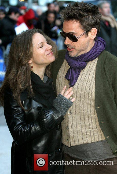 Susan Downey, David Letterman and Robert Downey Jr 3