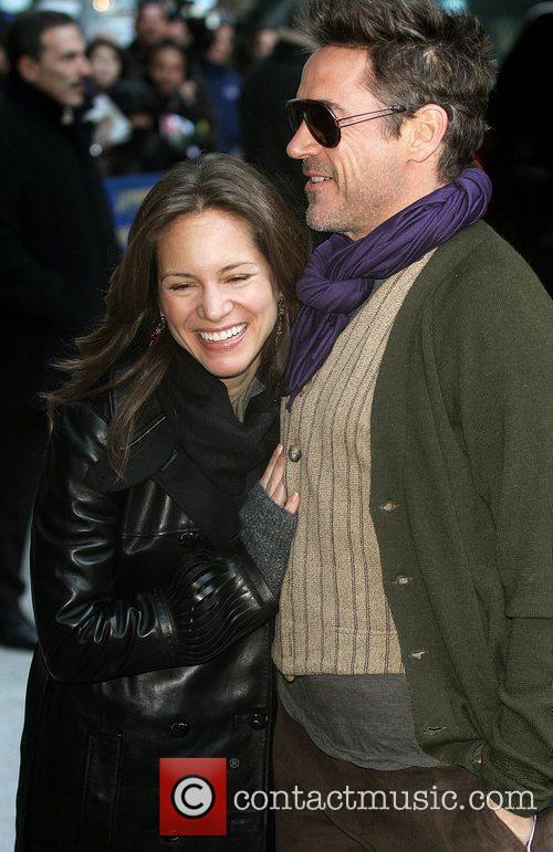 Susan Downey, David Letterman and Robert Downey Jr 2