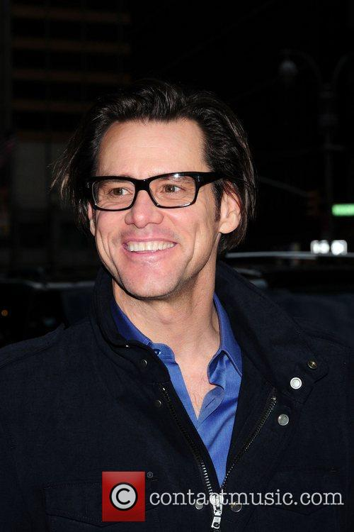 Jim Carrey outside The Ed Sullivan Theater for...