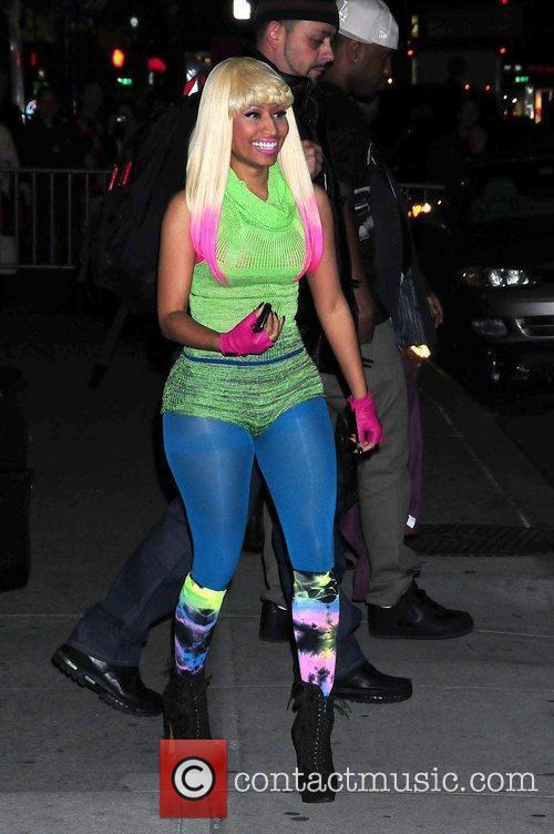 Nicki Minaj outside The Ed Sullivan Theater for...