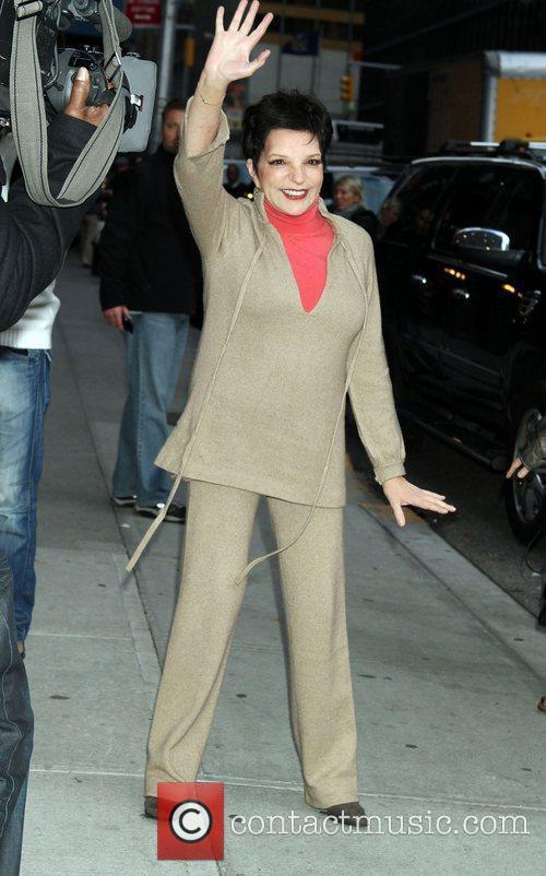 Liza Minnelli Celebrities outside The Ed Sullivan Theater...