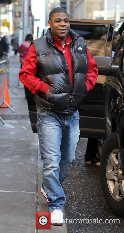 Comedian/actor Tracy Morgan and David Letterman 5