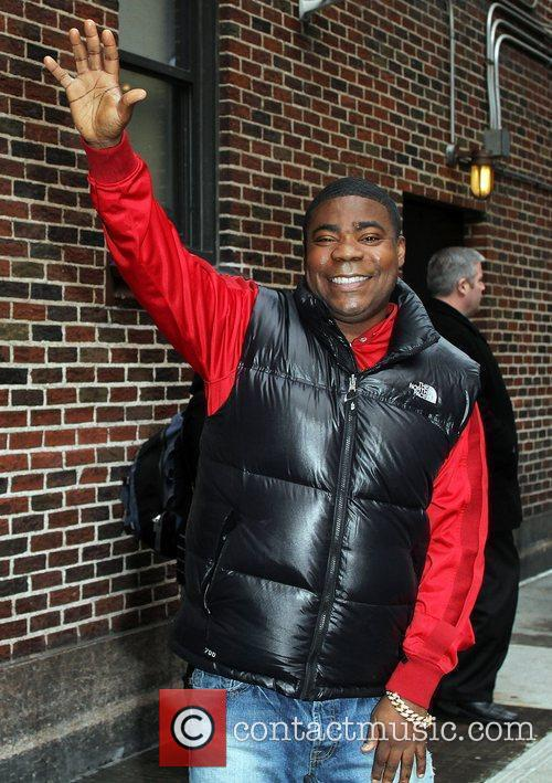 Comedian/actor Tracy Morgan and David Letterman 6