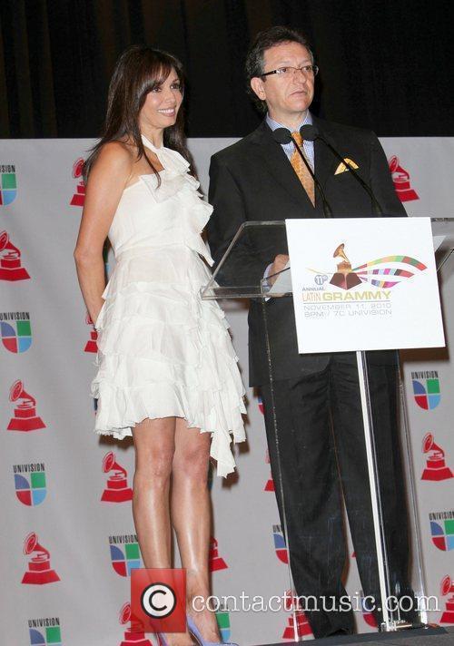 Giselle Blondet, Latin Recording Academy President Gabriel Abaroa...
