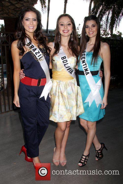 Miss Universe 2010 Latin contestants' breakfast event, held...