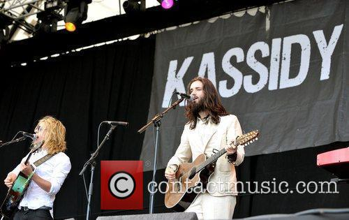 Kassidy perform on the second day of Latitude...