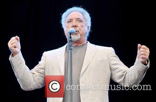 Singer Tom Jones  performs live on stage...