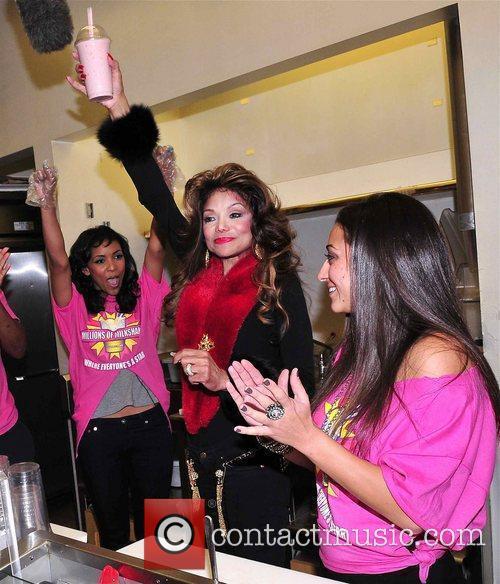 LaToya Jackson stops at Millions of Milkshakes in...