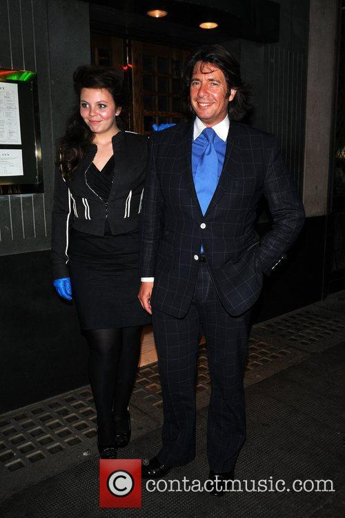 Leaving the Ivy restaurant in Covent Garden.