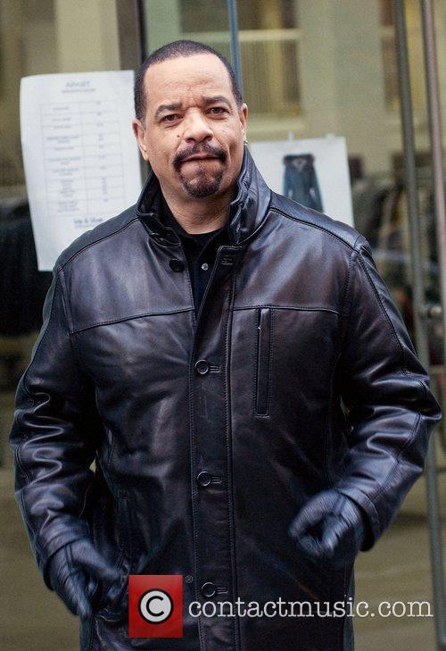Ice-T on the filmset of Law and Order...
