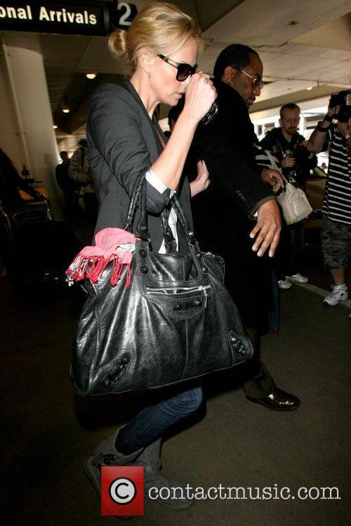 Star of 'The Road' arriving at LAX airport