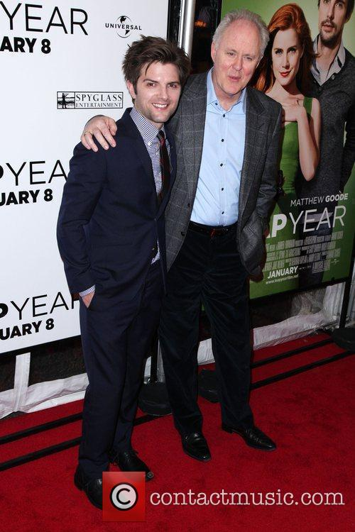 Adam Scott and John Lithgow The world premiere...