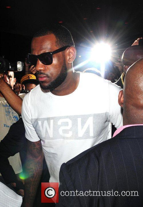 LeBron James in South Beach after announcing he...