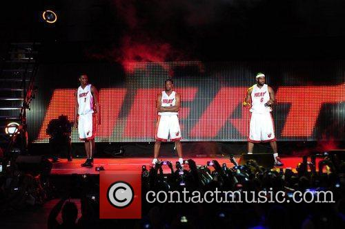 LeBron James , Dwyane Wade, Chris Bosh and...