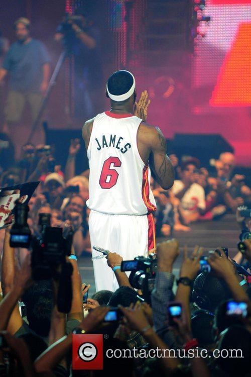 LeBron James The Miami Heat Summer 2010 player...