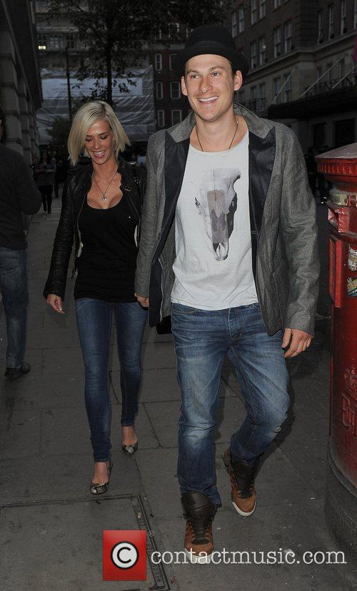 Lee Ryan and his girlfriend Samantha Miller leaving...