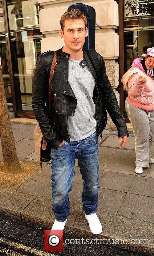 Lee Ryan outside the May Fair Hotel London,...