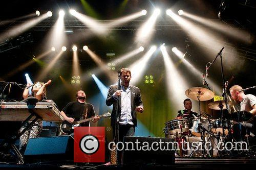 LCD Soundsystem performing live