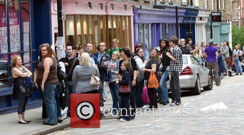 Fans queue up for the 'Legally Blonde' CD...