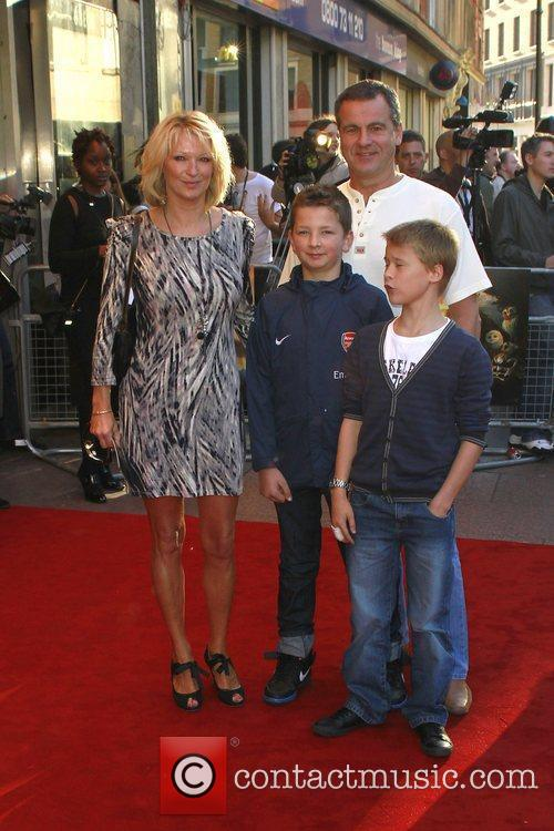 Gillian Taylforth and family The UK premiere of...