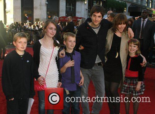 Jim Sturgess and Mickey O'Brien with children The...