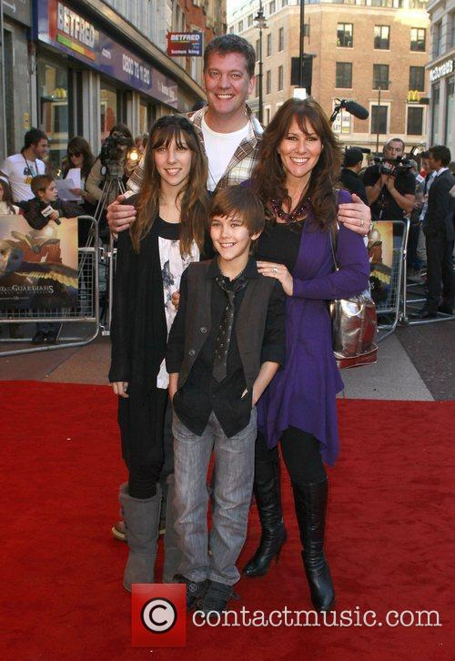 Linda Lusardi and family The UK premiere of...