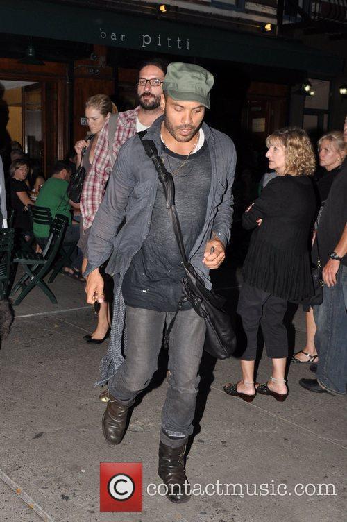 Rocker, Lenny Kravitz, was seen leaving Da Silvano...