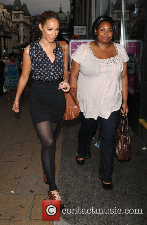 Leona Lewis and Friend is seen leaving a...