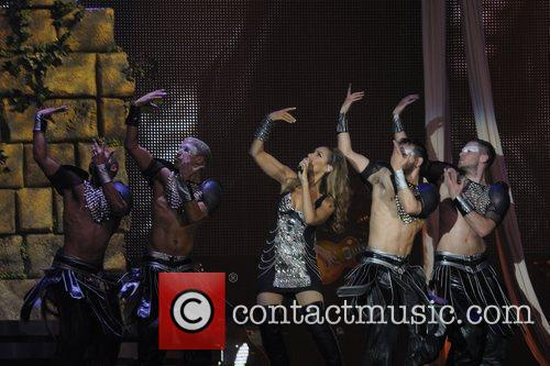 Performing live at Cardiff International Arena