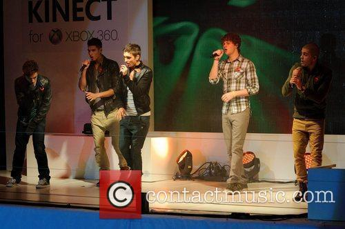 The Wanted performs at the Launch of the...
