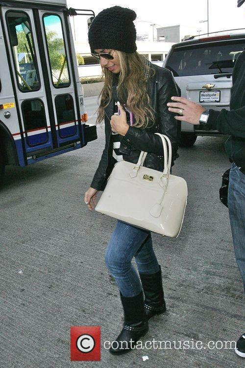 Leona Lewis arrives at LAX airport Los Angeles,...