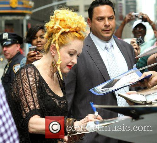 Cyndi Lauper and David Letterman 6