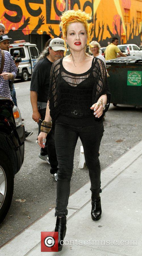 Cyndi Lauper and David Letterman 4
