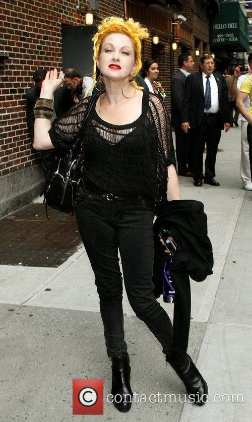 Cyndi Lauper and David Letterman 3