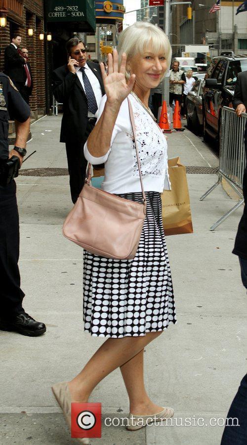Helen Mirren and David Letterman 1