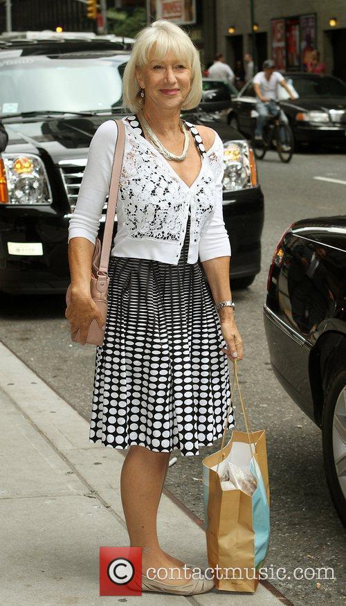 Helen Mirren and David Letterman 2