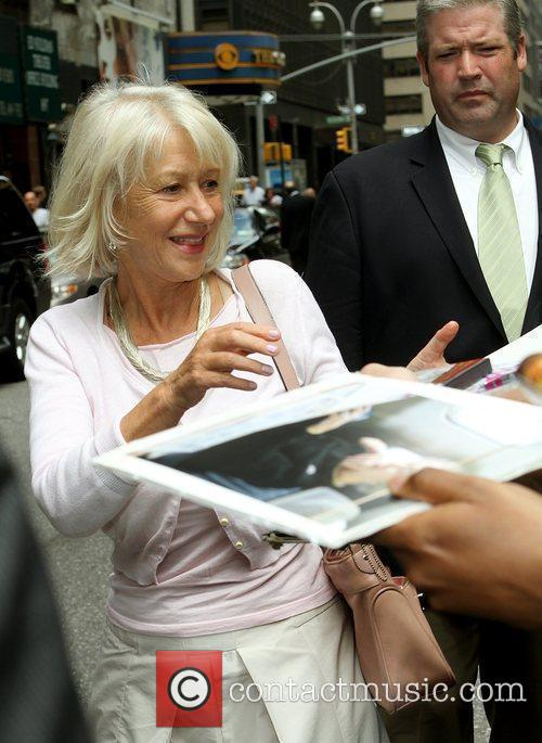 Helen Mirren and David Letterman 3