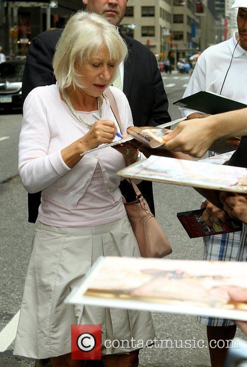 Helen Mirren and David Letterman 5